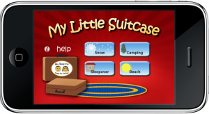 My Little Suitcase מסך ראשי