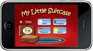 My Little Suitcase מסך ראשי